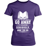 Go away, I'm reading Fitted T-shirt-For Reading Addicts