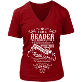I am a reader - V-neck-For Reading Addicts