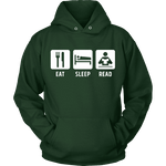 Eat, Sleep, Read Hoodie - Gifts For Reading Addicts