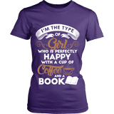 Books and Coffee Fitted T-shirt - Gifts For Reading Addicts