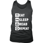 Eat, Sleep, Read, Repeat Mens Tank - Gifts For Reading Addicts