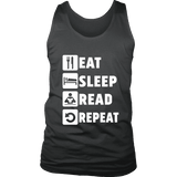 Eat, Sleep, Read, Repeat Mens Tank-For Reading Addicts