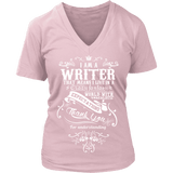 I am a writer - V-neck-For Reading Addicts