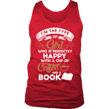 Books and Coffee Mens Tank-For Reading Addicts