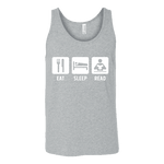 Eat, Sleep, Read Unisex Tank - Gifts For Reading Addicts