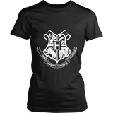 The Hogwarts Crest Fitted T-shirt - Gifts For Reading Addicts