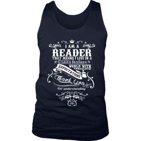 I am a reader Mens Tank-For Reading Addicts