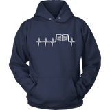 Book heart pulse Hoodie - Gifts For Reading Addicts