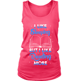 I Like Sleeping, But I Like Reading More Womens Tank-For Reading Addicts