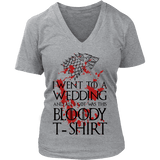 Game of Thrones Bloody T-shirt V-neck - Gifts For Reading Addicts