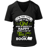 Tea & Books - V-neck-For Reading Addicts