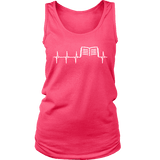 Book heart pulse Womens Tank-For Reading Addicts