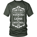I Always Check Wardrobes - Gifts For Reading Addicts