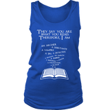 They say you are what you read Womens Tank-For Reading Addicts