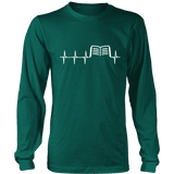 Book heart pulse Long Sleeve-For Reading Addicts