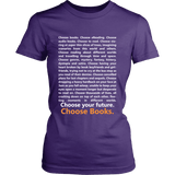 Choose Your Future, Choose Books Fitted Shirt - Gifts For Reading Addicts