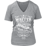 I am a writer V-neck-For Reading Addicts