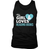 This girl loves reading books Mens Tank-For Reading Addicts