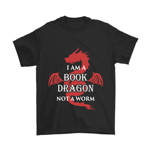 I Am A Book Dragon Unisex T-shirt-For Reading Addicts