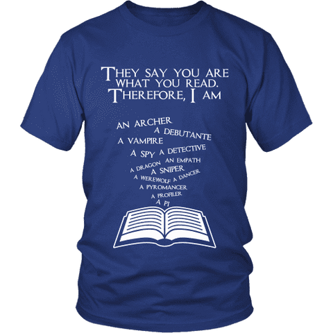 They say you are what you read Unisex T-shirt-For Reading Addicts