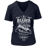 I am a reader - V-neck - Gifts For Reading Addicts