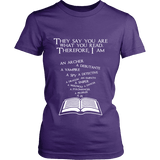 They say you are what you read Fitted T-shirt-For Reading Addicts