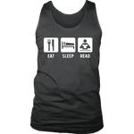 Eat, Sleep, Read Mens Tank-For Reading Addicts
