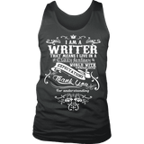 I am a writer Mens Tank-For Reading Addicts