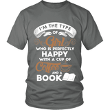 Books and Coffee Unisex T-shirt-For Reading Addicts