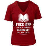 Fuck off - V-neck-For Reading Addicts