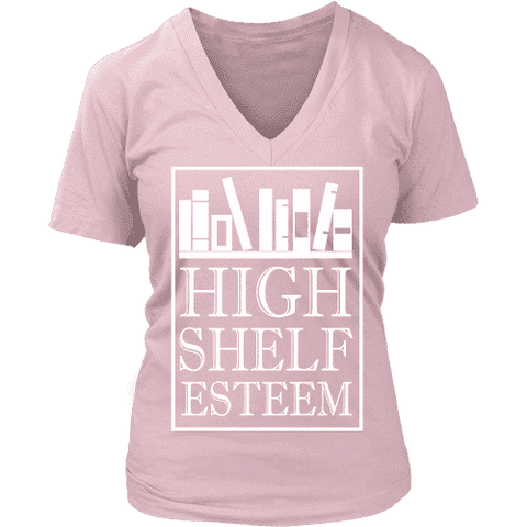 High Shelf Esteem V-neck - Gifts For Reading Addicts