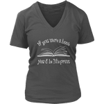 If You Were a Book You Would Be Fine Print V-neck - Gifts For Reading Addicts