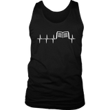 Book heart pulse Mens Tank-For Reading Addicts