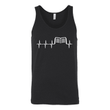 Book heart pulse Unisex Tank-For Reading Addicts