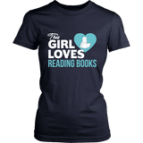 This girl loves reading books Fitted T-shirt-For Reading Addicts