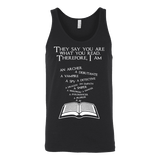 They say you are what you read Unisex Tank-For Reading Addicts