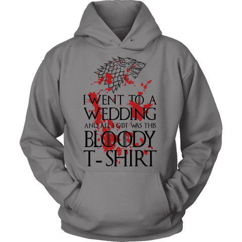 Game of Thrones Bloody T-shirt Hoodie-For Reading Addicts
