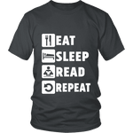 Eat, Sleep, Read, Repeat Unisex T-shirt - Gifts For Reading Addicts