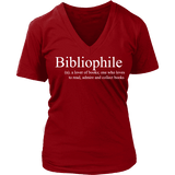 Bibliophile  V-neck-For Reading Addicts