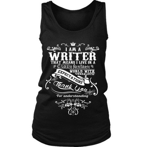I am a writer Womens Tank-For Reading Addicts