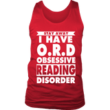 Stay Away I Have O.R.D Mens Tank Top - Gifts For Reading Addicts