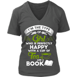 Tea & Books - V-neck - Gifts For Reading Addicts