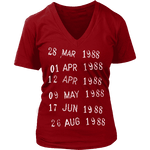 Library Stamp V-neck-For Reading Addicts
