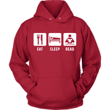 Eat, Sleep, Read Hoodie-For Reading Addicts