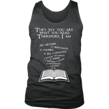 They say you are what you read Mens Tank-For Reading Addicts