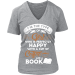 Books and Coffee V-neck - Gifts For Reading Addicts