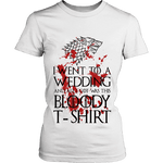 Game of Thrones Bloody T-shirt Fitted T-shirt-For Reading Addicts