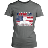 Freadom Fitted T-shirt-For Reading Addicts