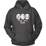Peace, Love, Books Hoodie - Gifts For Reading Addicts