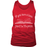 If You Were a Book You Would Be Fine Print Mens Tank Top-For Reading Addicts